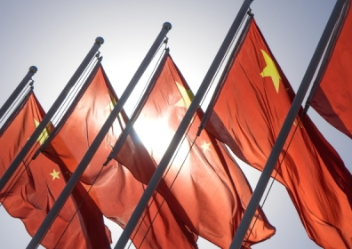 Chinese flags flying © Shutterstock / crystal51