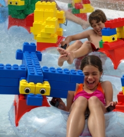 A Legoland water park ride