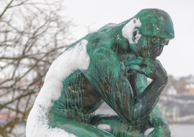 Bronze sculpture of The Thinker by Auguste Rodin at the Prince Eugens Museum, Stockholm. © Stefan Holm / Shutterstock