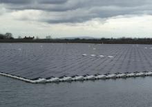 Floating solar installation at Godley Reservoir, UK (credit Ciel et Terre)